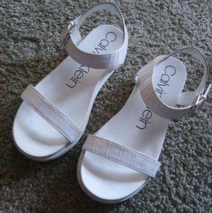 All white open sandal